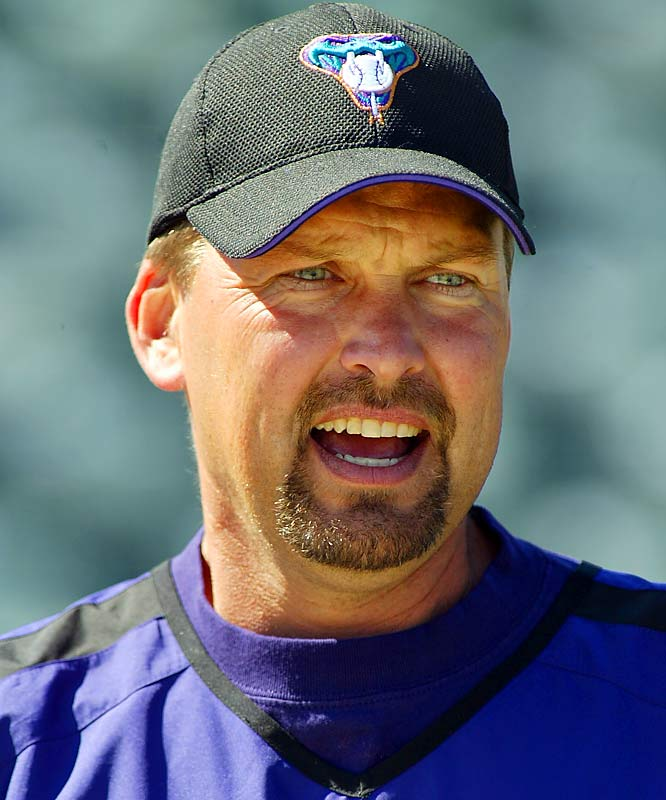"D'backs broadcaster Mark Grace thought his mic was off when he made the following statement about D'backs hitter Chris Snyder during an August 2005 broadcast: ""Every f---ing swing that guy takes is an underwater swing."""