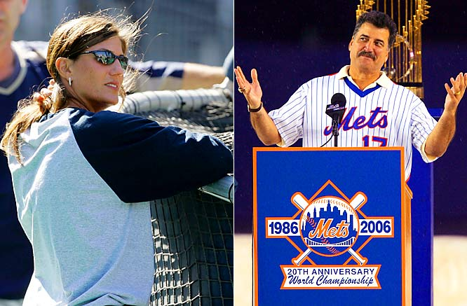 "Former Mets first baseman and current SNY analyst Keith Hernandez was shocked to see a woman in the San Diego dugout during a Padres-Mets game at Petco Park this season. ""Who is the girl in the dugout, with the long hair? What's going on here?"" Hernandez said. ""You have got to be kidding me. Only player personnel in the dugout.... I won't say that women belong in the kitchen, but they don't belong in the dugout."" The woman in question is a Padres staff member, massage therapist Kelly Calabrese (left)."