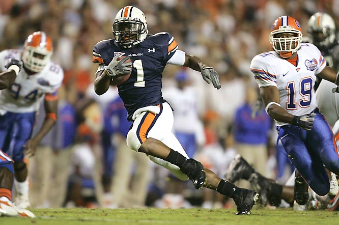 Brad Lester, who led Auburn with 97 yards on 17 carries, cut up the Florida secondary.