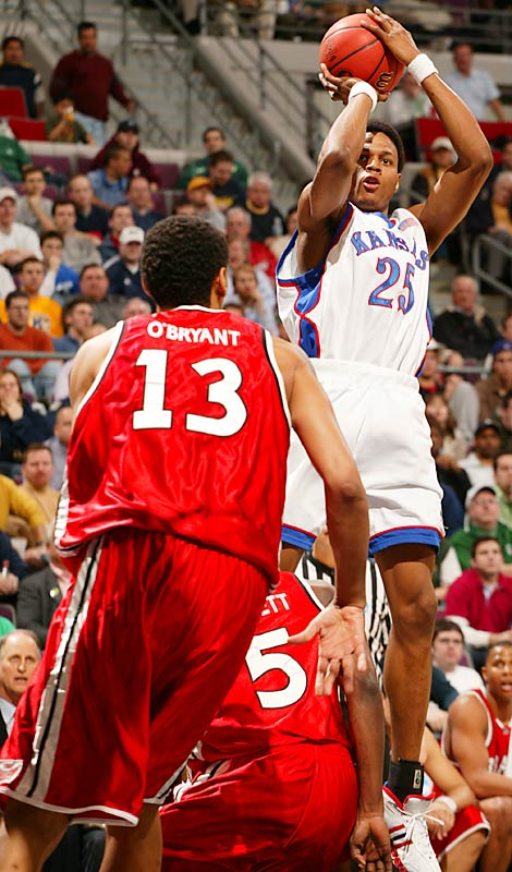 Headliners: Brandon Rush (left), Russell Robinson, Mario Chalmers, Sherron Collins <br><br>The Jayhawks' three-headed monster (with superstar freshman Collins in reserve) comprises the nation's top backcourt. Rush, a sweet-shooting, physical wing, leads the scoring barrage while Robinson and Chalmers wreak havoc on defense.