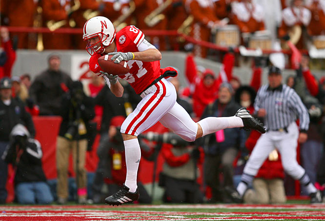 Wide receiver Nate Swift got behind the Texas secondary to catch a 25-yard halfback option pass from Marlon Lucky to put Nebraska ahead 20-19 late in the fourth quarter.