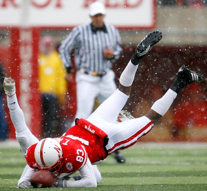 Nebraska wide receiver Terrence Nunn's fumble in the final three minutes led to a Texas recovery and  game-winning field goal.