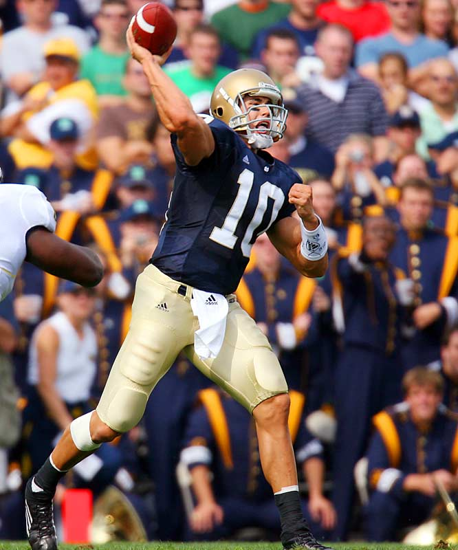The top-rated passer when it comes to the 2007 NFL Draft, Quinn suffered a forgettable, three interception outing in a bad loss to Michigan and fell off the Heisman watch. But since that point, Quinn's led the Irish to three easy wins, throwing for 867 yards, 10 touchdowns and just one pick. And he's creeping right back into the Heisman race.