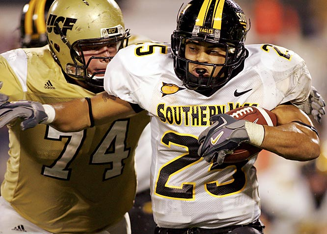 "Fletcher averages 122.75 rushing yards a game (eighth-best nationally), highlighted by a 177-yard, three-touchdown performance against N.C. State. His instant dominance has surprised everyone: ""For a true freshman, nothing fazes him,"" Southern Miss coach Jeff Bower said. ""He isn't intimidated. He's poised, athletic and has learned fast. I didn't expect this."""