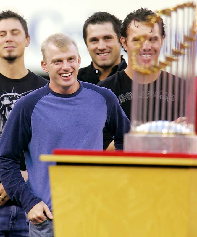 World Series MVP David Eckstein had a lot to smile about.