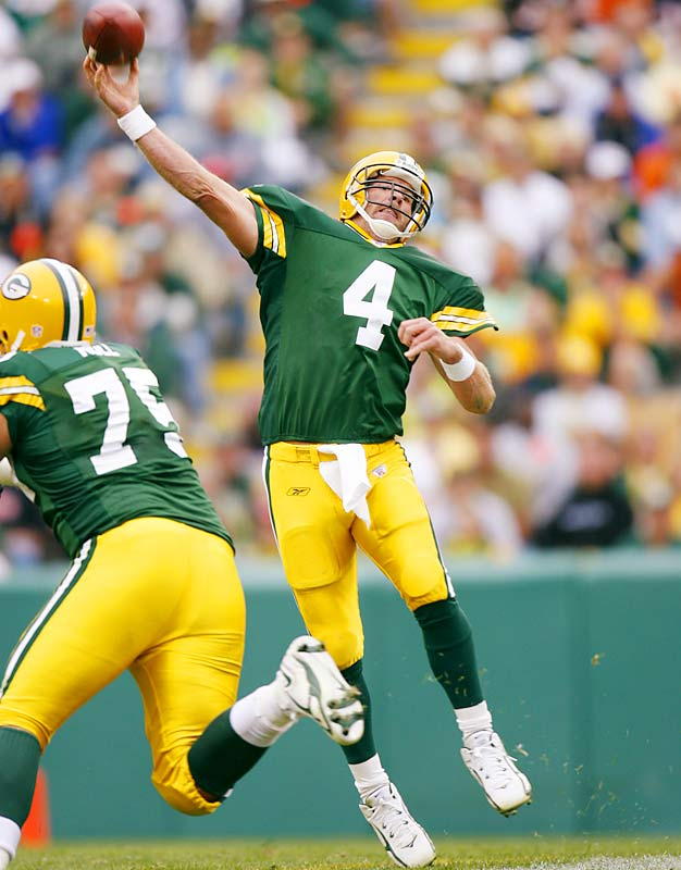 His physical skills are still there, but the situation in Green Bay is just not working. Although it's impossible to picture Favre in another uniform, why not let him take one more shot at the playoffs? The Packers could save face by dealing him to a contender and then playing Aaron Rodgers, which is probably what they really want to do anyway.