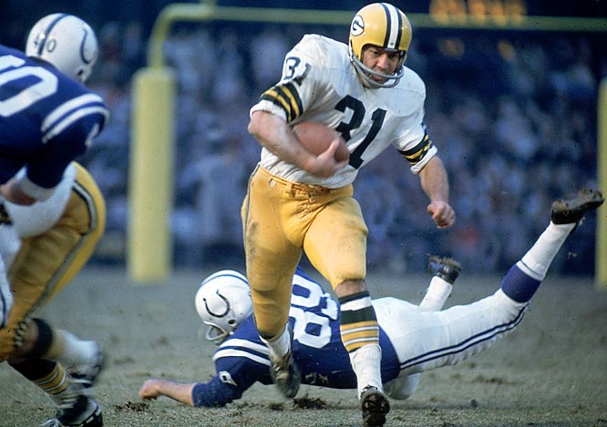 Jim Taylor, in his final season in Green Bay, was the Packers' leading rusher in 1966 with 705 yards.