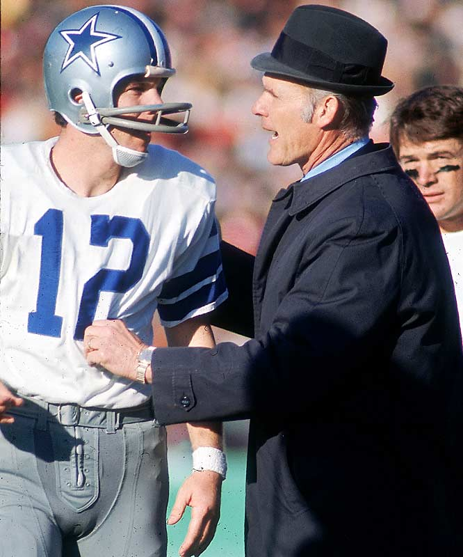 A fedora-bedecked Landry got along better with Staubach as they guided the Cowboys to their second consecutive Super Bowl appearance and their first win, a 24-3 domination of the Miami Dolphins.