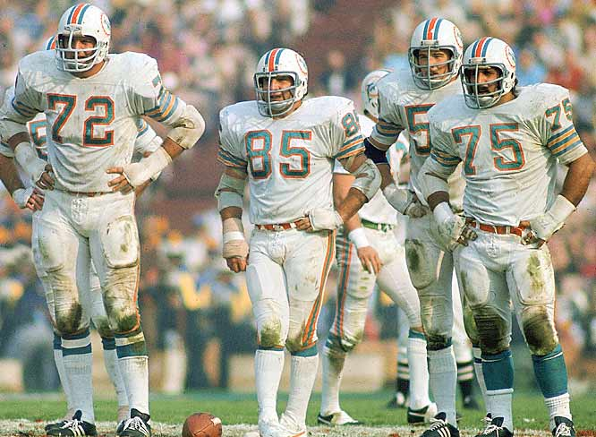 With the likes of Bob Heinz (72), Nick Buoniconti (85), Dough Swift (59) and Manny Fernandez (75), the Dolphins held the Redskins' offense scoreless in Super Bowl VII. Washington got its only points when Miami kicker Garo Yepremian picked up the ball after a field goal attempt was blocked and tossed up a fumble that Roy Jefferson returned for a TD.