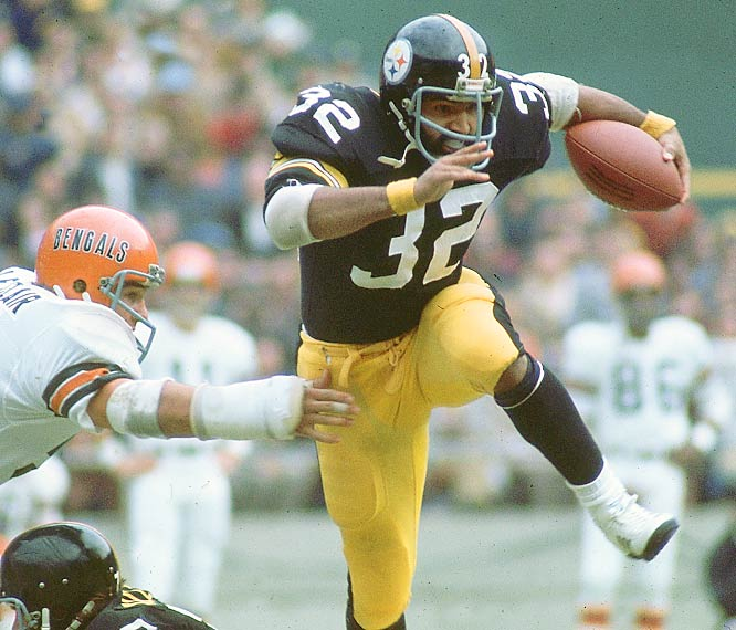 Franco Harris didn't score against Dallas in Super Bowl X, but did carry the ball 27 times for 82 yards and caught one pass for 26 yards.