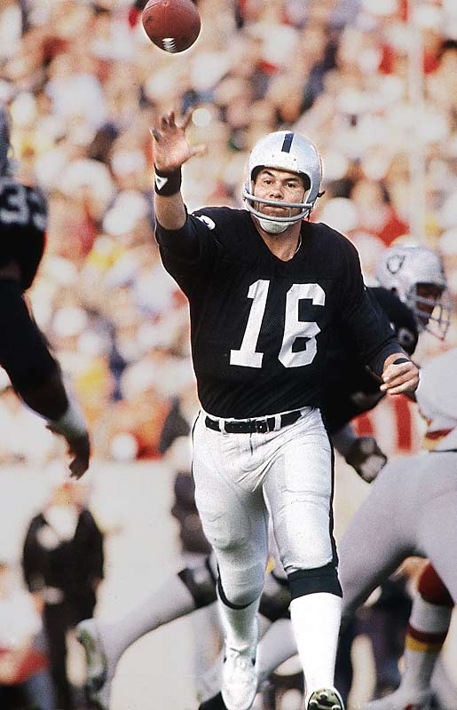 Jim Plunkett completed 16 of 25 passes for 172 yards and one touchdown in the Black Sunday victory over the Redskins. In one key series he completed a 50-yard pass to Cliff Branch and hooked up with Branch again two plays later on a 12-yard scoring pass.