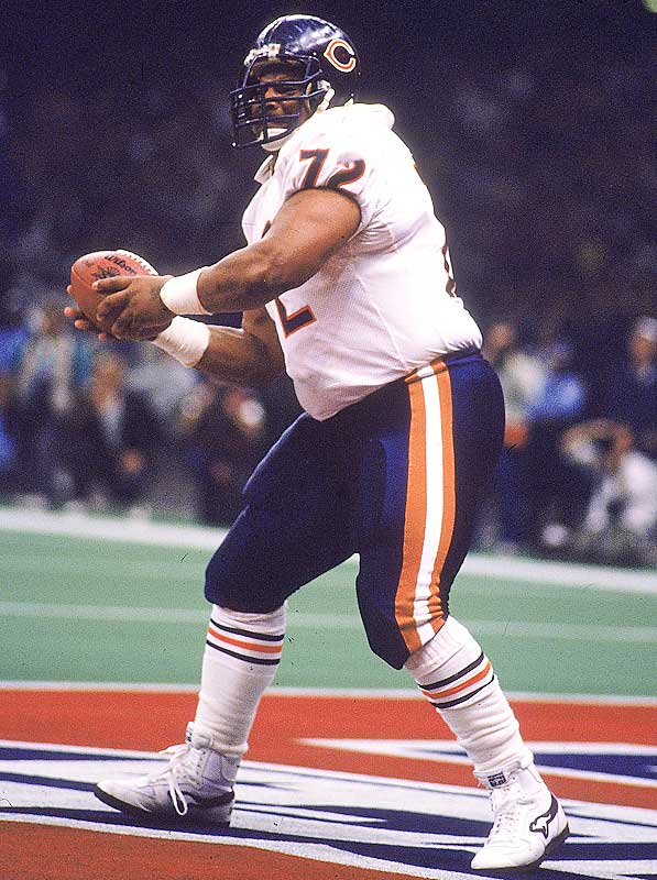 "Of all the characters on the 1985 Bears, William ""Refrigerator"" Perry is perhaps the most memorable. A rookie defensive lineman, he became a novelty when the Bears starting putting him in the backfield as a lead blocker for Walter Payton. The Fridge even scored on a one-yard run in the Super Bowl."