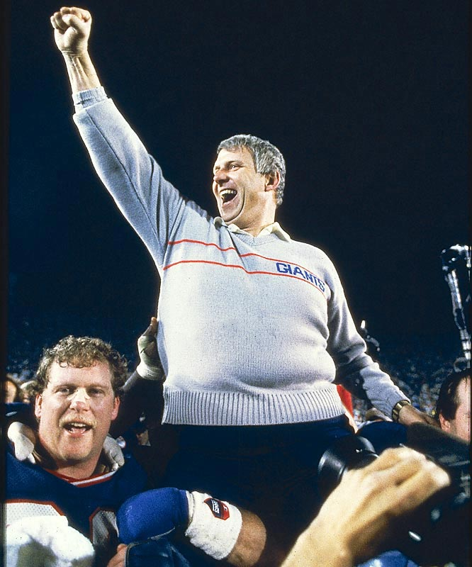 After winning only three games in his first season as head coach, Bill Parcells brought the Giants their first championship three years later with a 39-20 victory over Denver in Super Bowl XXI.