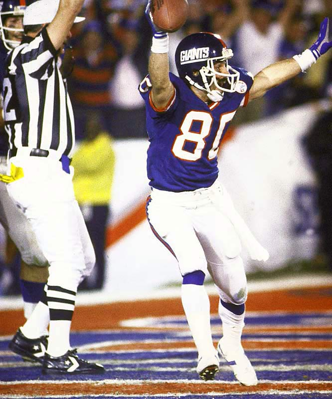Phil McConkey may have been a reserve receiver, returning punts and kickoffs for most of his career, but in Super Bowl XXI he caught a 44-yard pass on a flea flicker, along with a six-yard touchdown pass that had bounced off the fingertips of tight end Mark Bavaro.