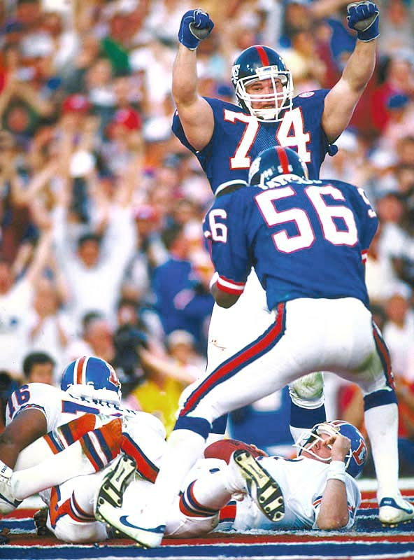 "Lawrence Taylor finished the season with a career-high 20.5 sacks and was the centerpiece of a stifling 3-4 defense known as ""Big Blue"" that allowed just three points in the Giants' first two playoff games."