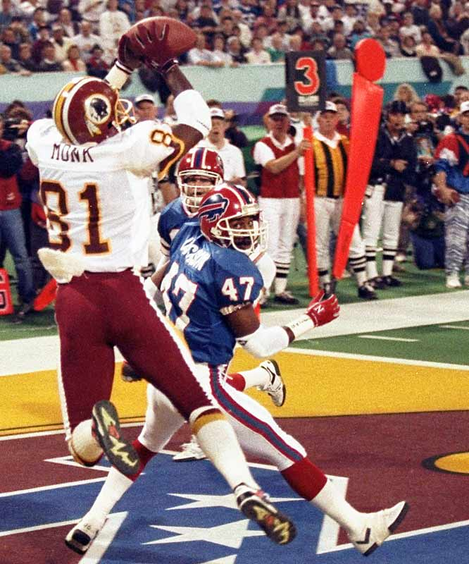 Though he didn't score in Super Bowl XVII, Art Monk had seven receptions for 113 yards to cap a year in which he enjoyed his fifth 1,000th yard receiving season.