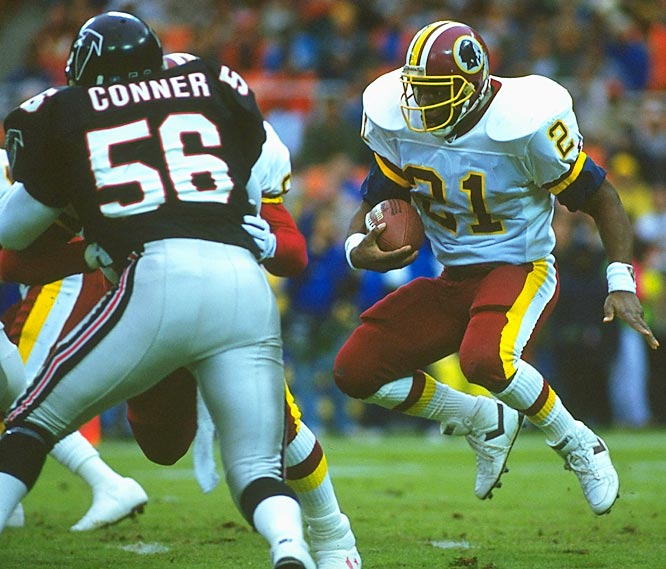 A workhorse back who averaged 3.8 yards a carry and 9.1 per reception in a season in which he ran for 1,048 yards and made 34 catches for 308 yards, Earnest Byner was a key cog in the Redskins run to greatness.