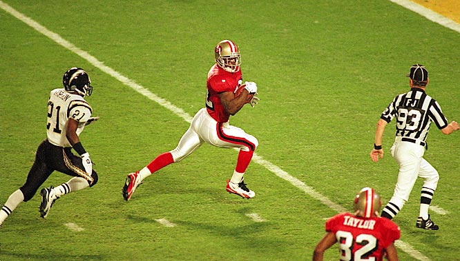 Ricky Watters caught scoring passes of  51 and 8 yards and ran another score in from nine yards as the 49ers totally dominated the Chargers.