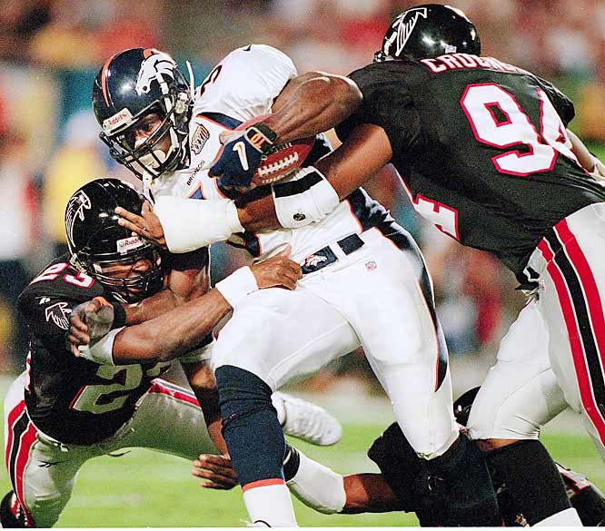 Terrell Davis had 25 carries for 102 yards and two receptions for 50 yards as the Broncos cruised to their second-straight Super Bowl victory.