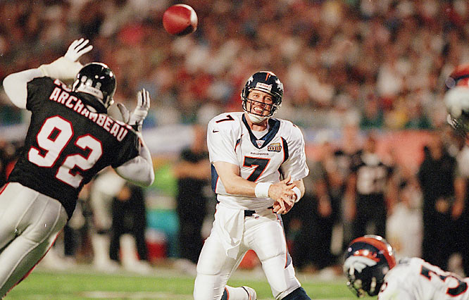 John Elway and the 1998 Broncos made the 1972 Dolphins very nervous. Denver ran through the first 13 weeks of the season undefeated before the New York Giants handed the Broncos their first loss, 20-16, Dec. 13 at Giants Stadium.