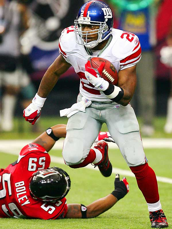 185 ... Tiki Barber's 185 rushing yards against the Falcons gave him more games with 185 or more rushing yards since Oct. 1, 2005 (four) than everybody else in the NFL combined during the same span (three). The 185 yards are the most by a player his age or older (31 years, 7 months, 8 days) in 16 years, since James Brooks of the Bengals rushed for 201 yards against the Oilers in 1990 at the age of 31 years, 11 months, 25 days.