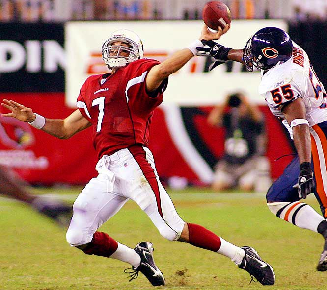 7 ... Matt Leinart became the first quarterback to start on Monday Night Football as a rookie in seven years, since Shaun King of the Buccaneers started against the Vikings on Dec. 6, 1999.