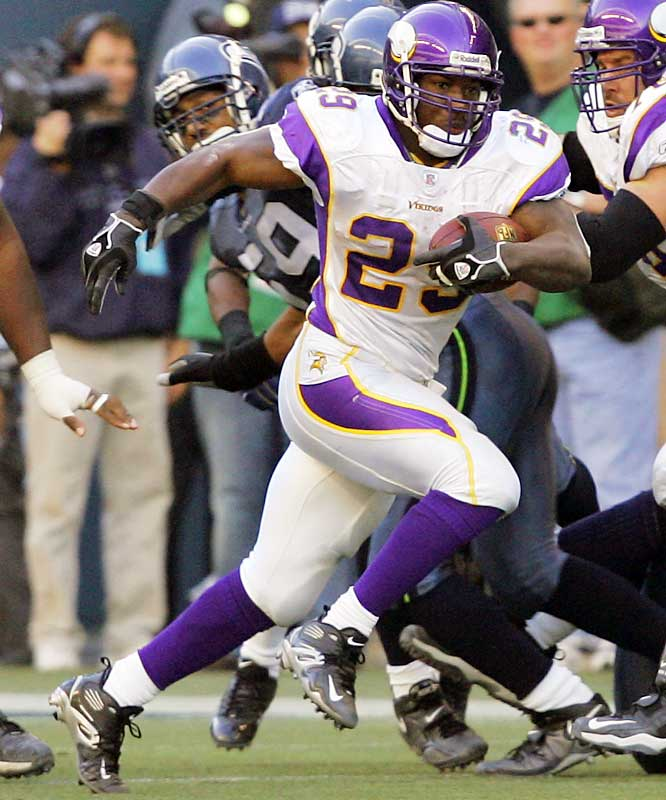 95 ... Vikings running back Chester Taylor's 95-yard TD run was the longest in 56 years by a player who had never had a run from scrimmage of more than 52 yards. The last player with a TD run of 95 or more yards without a prior run of at least 52 yards was Jim Spavital of the Colts, who had a 96-yard touchdown run against the Packers on Nov. 5, 1950, at Memorial Stadium in Baltimore.