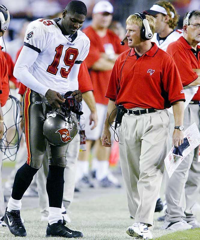 Gruden deactivated Johnson with six games left in the 2003 season because he felt the wide receiver had become a disruption to the team with his negative attitude. The Bucs had won a Super Bowl the year before, but the good feelings dissipated quickly and Gruden made the controversial move of sitting Johnson even though Tampa Bay was still in contention for the playoffs.
