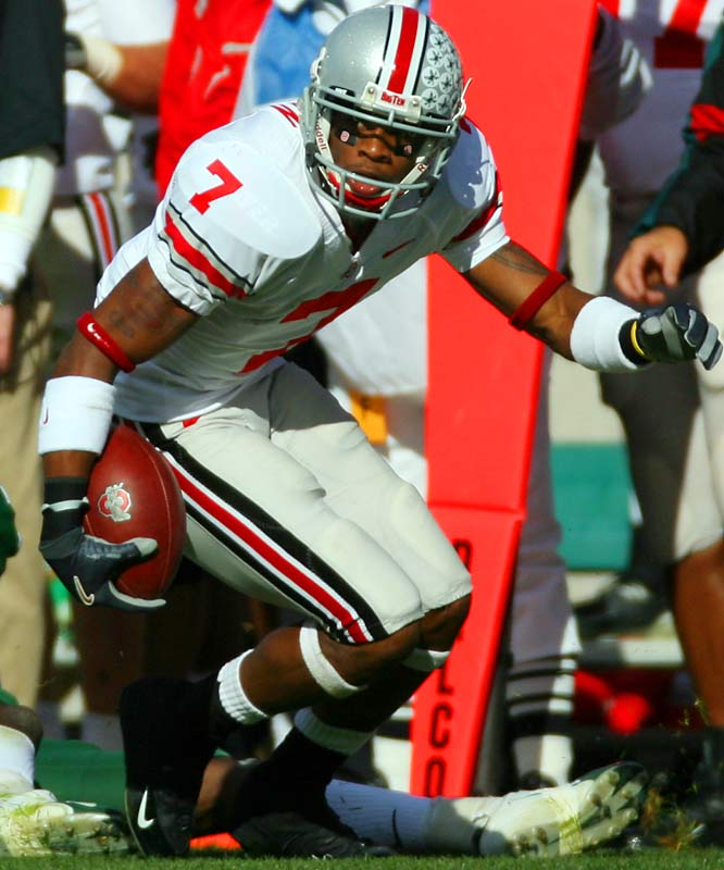 The Ohio State Buckeye possesses the home-run hitting speed to break games open as a receiver or a return specialist.