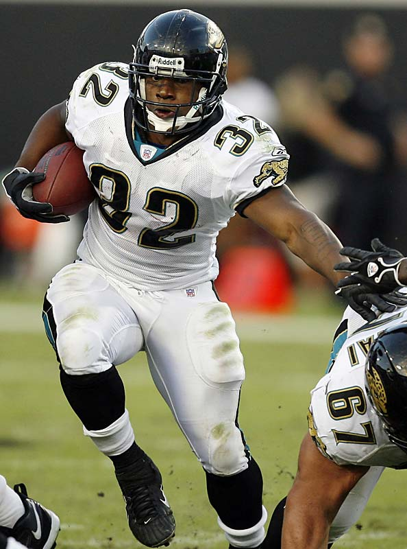Last week: No. 10<br><br>Jones-Drew ran for two touchdowns in the Jags' 41-0 win over the Jets last Sunday. The rookie out of UCLA has proven that he can contribute consistently as a runner, receiver and returner and is a constant threat to break out with a big play.