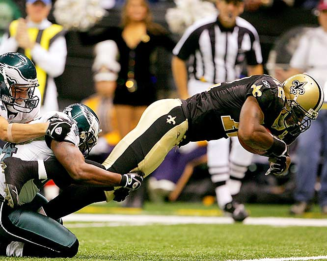 Last week: No. 3 <br><br>The Saints are coming off a bye and are poised for a playoff run. Colston leads the team with 414 receiving yards and four touchdowns catches. His presence frees up fellow receiver Joe Horn and running backs Reggie Bush and Deuce McAllister.