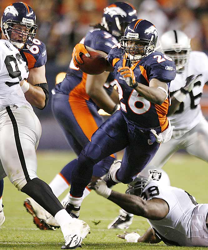 Denver running back Tatum Bell rushed for 83 yards and a touchdown in another low-scoring victory for Broncos.