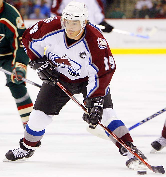 The Avs captain opened the season 26 goals shy of 600 and as the career leader in assists among active players (915). He needs 11 helpers to tie Hall of Famer Stan Mikita for 14th all-time, and if he gets 50 (he had 55 last season), he'll move into the top 10. Sakic also needs 43 points to pass Paul Coffey (1,579) and enter the top 10 scorers.