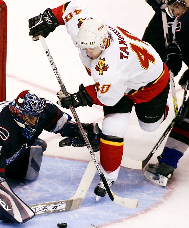 The swift, versatile 24-year-old spent six seasons in Colorado, where he helped the Avs capture the Cup in 2001. His arrival in Calgary adds some needed firepower to a rock-ribbed defensive team that has a strong shot to come out of the West and challenge for the championship.