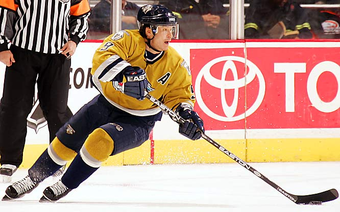 The diminutive (5-10, 175) 11-year veteran remains one of the NHL's most explosive skaters. Able to reach full speed with his first few strides, he is extremely elusive, a quality that allows him to avoid punishing hits. One of only two Predators to suit up for all 82 games last season, Kariya led the team in scoring with franchise marks of 31 goals, 54 assists and 85 points.