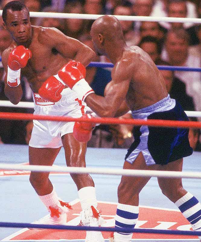 Won WBC Middleweight Title fight versus Maverlous Marvin Hagler.