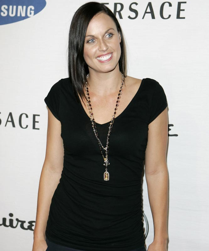 Olympic Swimmer Amanda Beard was all smiles as she arrived at a charity event earlier this week.