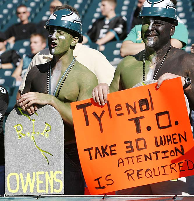 October 8, 2006 will not be a day Terrell Owens will not remember fondly.