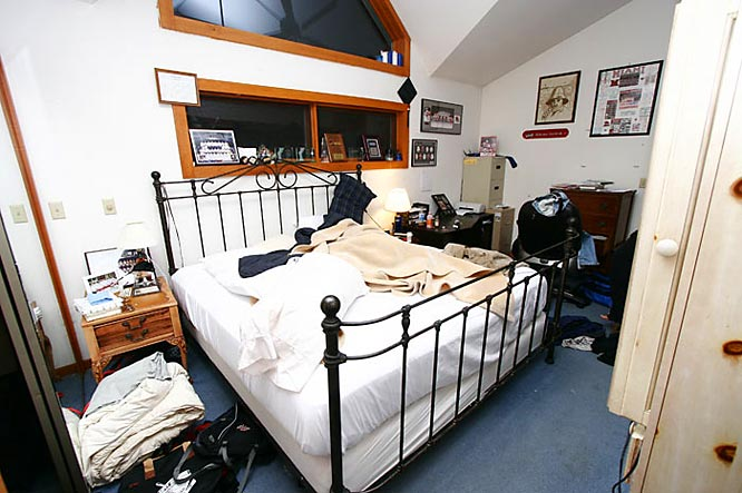 Since his parents own the place, Nate Davis took the best bedroom in the house.