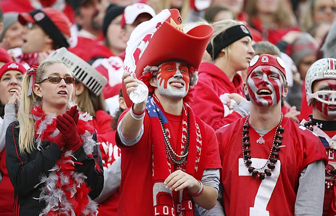 SIOC credits these Ohio State fans for the elaborate design of their face paint.
