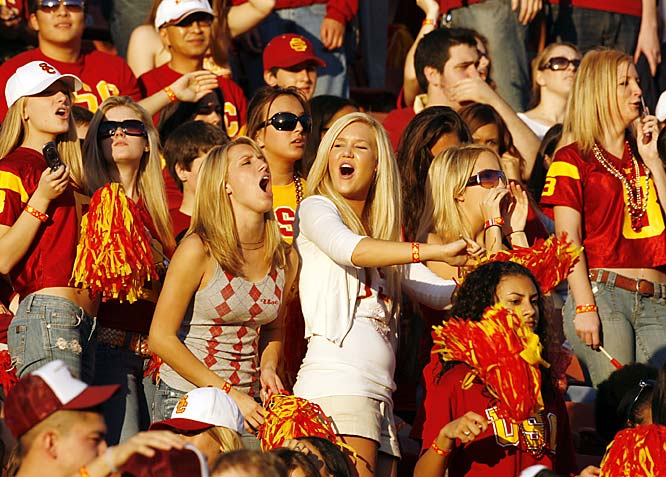 These USC fans cheered on their Trojans during a 23-9 victory over Cal.
