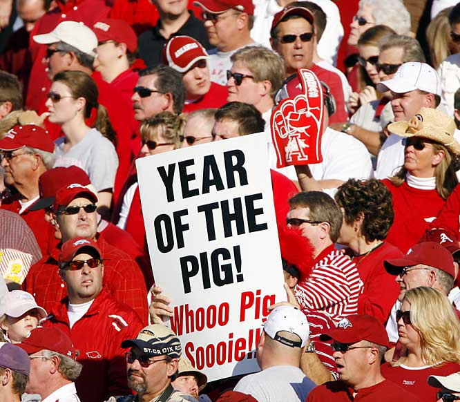 It has very much been the Year of the Pig, but after losing to LSU, the Hogs won't be playing in the national championship game.