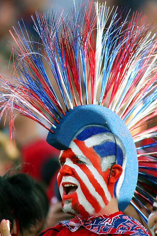 An Arizona fan went all out with the facepaint during his team's 28-14 loss to in-state rival Arizona State.