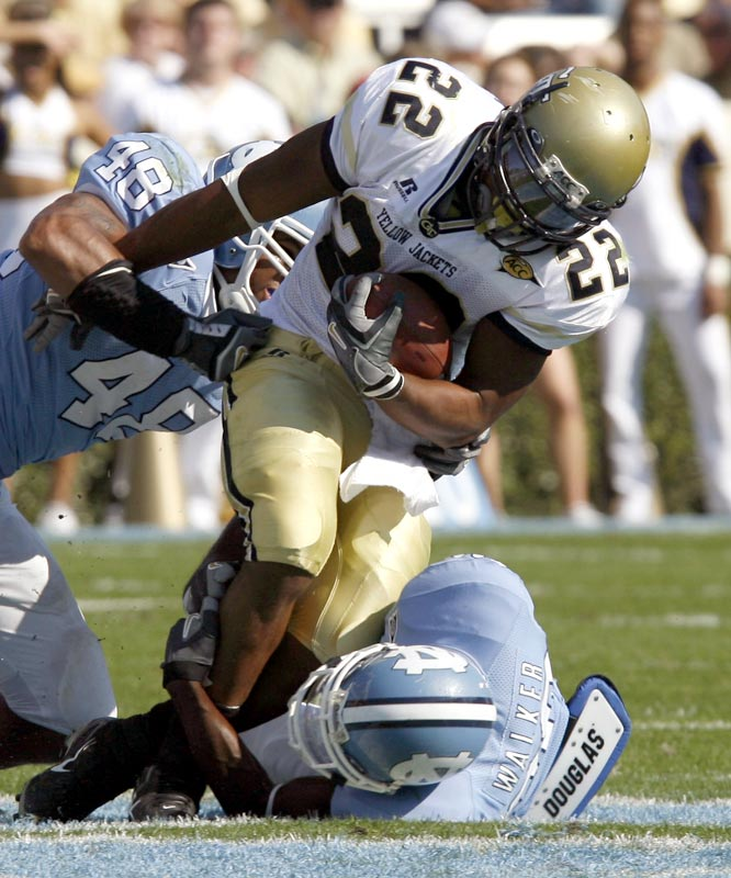 Tashard Choice (22) ran for 119 yards and a touchdown as the Yellow Jackets clinched the ACC Coastal Division title.