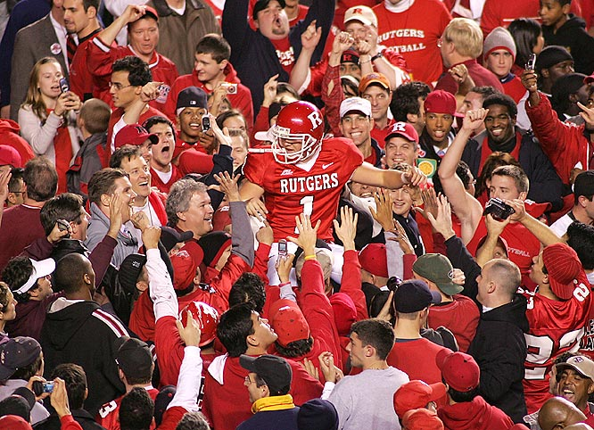 Jeremy Ito (1), who missed a 33-yard field, hit from 28 yards after a defensive penalty to deliver the biggest win in Rutgers' history.