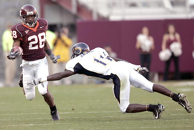 Branden Ore ran for 72 yards and a 6-yard touchdown on 25 carries as the Hokies blanked the Golden Flashes.