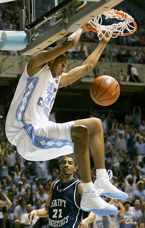 Wright, who was rated the nation's No. 1 power forward in the class of 2006 by Scout.com, scored 19 points to lead UNC in its first exhibition win Wednesday. He's an early favorite to start alongside Wooden candidate Tyler Hansbrough in the Heels' frontcourt.