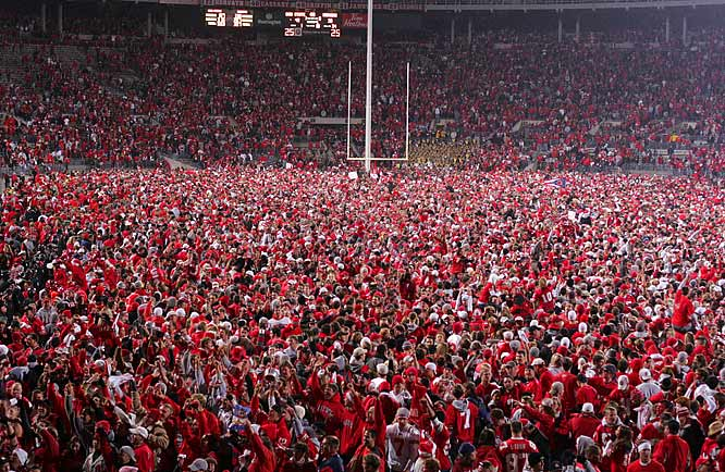Ohio State's fans will get another opportunity for a celebration when it is announced that the Buckeyes will travel to Glendale, Ariz. to play for the BCS title on January 8th.