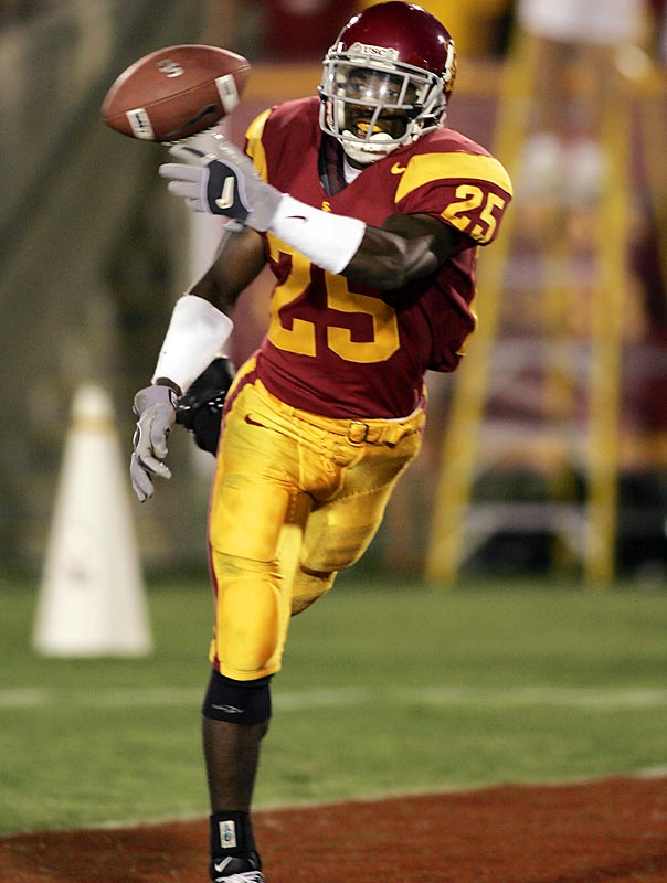Wright started for the 2004 national champion USC Trojans, but transferred to UNLV after an alleged assault and possible drug possession (no criminal charges were ever filed). Wright boasts superior quickness and coverage ability.