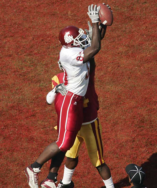 The 6-foot-1 210-pounder returned for his senior year to polish up before taking his game to the next level. With seven scores this season, Hill has 32 career touchdown receptions -- trailing only USC's Dwayne Jarrett on the Pac-10's all-time list.